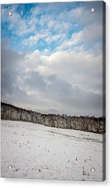 Winter Field Acrylic Print by Chris Bordeleau