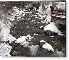 Winter Flow Acrylic Print by Adam Cornelison