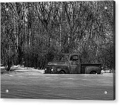 Winter Ford Truck 1 Acrylic Print by Thomas Young