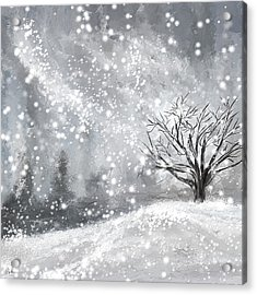 Winter- Four Seasons Painting Acrylic Print by Lourry Legarde