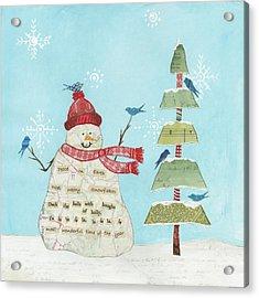 Winter Fun I Acrylic Print
