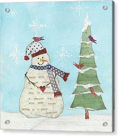 Winter Fun IIi Acrylic Print by Courtney Prahl