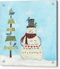 Winter Fun Iv Acrylic Print by Courtney Prahl
