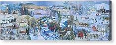 Winter Fun - Sold Acrylic Print by Judith Espinoza