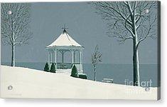Winter Gazebo Acrylic Print by Michael Swanson