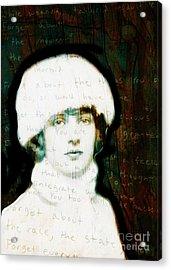 Winter Girl Acrylic Print by Judy Wood