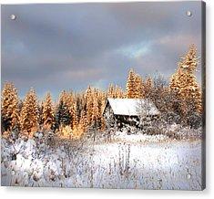 Winter Glow Acrylic Print by Doug Fredericks