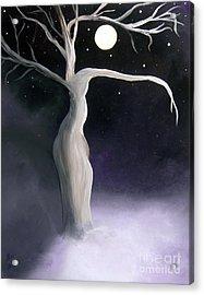 Winter Goddess Acrylic Print by Alys Caviness-Gober