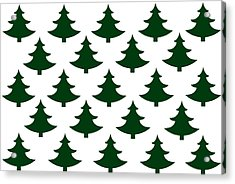 Winter Green Christmas Tree Acrylic Print by Chastity Hoff