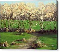 Winter Greens Acrylic Print by Karen Ilari