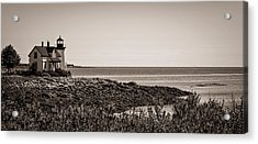 Acrylic Print featuring the photograph Winter Harbor Lighthouse by Wayne Meyer