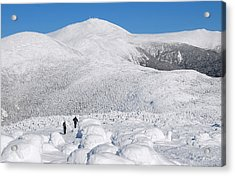 Winter Hike In The Southern Presidential Range Acrylic Print