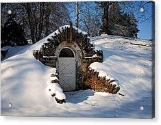Winter Hobbit Hole Acrylic Print