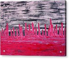 Winter Hoodoos Original Painting Acrylic Print