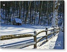 Winter Hut Acrylic Print by Paul Ward