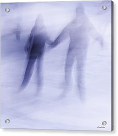 Acrylic Print featuring the photograph Winter Illusions On Ice - Series 1 by Steven Milner