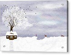 Winter Illustration Acrylic Print