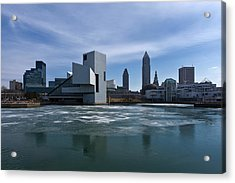 Winter In Cleveland Acrylic Print by Dale Kincaid