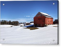 Winter In Dover Acrylic Print by Eric Gendron