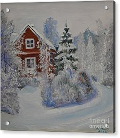 Winter In Finland Acrylic Print