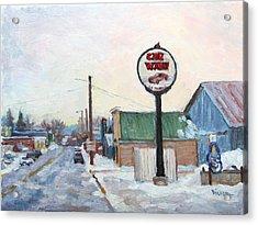 Winter In La Farge Acrylic Print
