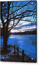 Winter In New Hampshire Acrylic Print by Joann Vitali