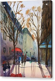 Winter In Paris Acrylic Print by Lior Ohayon