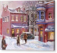 Winter In Soulard Acrylic Print by Edward Farber