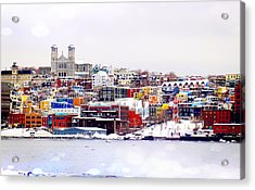 Winter In St. John's Acrylic Print