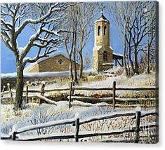 Winter In Stoykite Acrylic Print by Kiril Stanchev