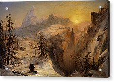 Winter In Switzerland Acrylic Print by Jasper Francis Cropsey