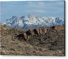 Winter In The  Mohave Desert Acrylic Print