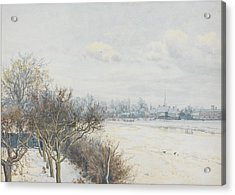 Winter In The Ouse Valley Acrylic Print by William Fraser Garden