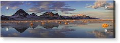 Winter In The Salt Flats Acrylic Print by Chad Dutson