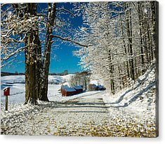 Acrylic Print featuring the photograph Winter In Vermont by Edward Fielding