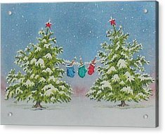 Winter Is Fun Acrylic Print by Mary Ellen Mueller Legault