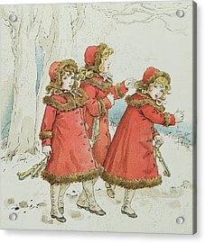 Winter Acrylic Print by Kate Greenaway