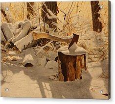 Winter Labour Acrylic Print