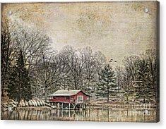 Winter Lake Acrylic Print by Darren Fisher