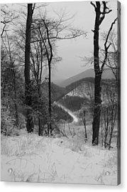 Winter Landscape Acrylic Print by Eva Csilla Horvath