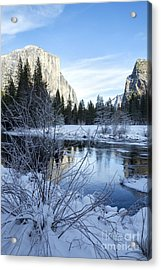 Winter Landscape In Yosemite California Acrylic Print