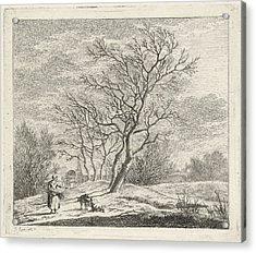 Winter Landscape, Johannes Janson Acrylic Print
