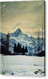Winter Landscape Acrylic Print by Matteo Olivero
