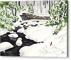 Winter Landscape - Mill Creek Park Acrylic Print