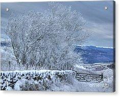 Winter Landscape Near Buxton Acrylic Print by David Birchall