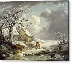 Winter Landscape Signed And Dated Acrylic Print by Litz Collection