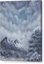 Winter Landscape Acrylic Print by Troy Wilfong