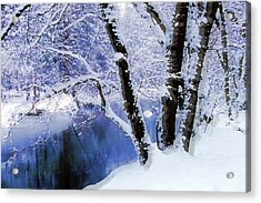 Winter Landscape Yosemite Valley Acrylic Print
