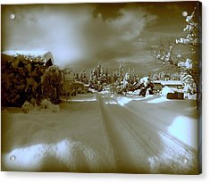 Winter Lane Acrylic Print