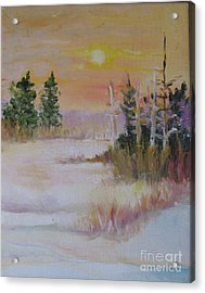 Acrylic Print featuring the painting Winter Light by Julie Todd-Cundiff